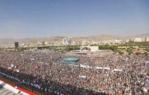 Sana´a, 21.9. 2017, Manifestation zum 3. Jahrestag der Einnahme Sana´as durch die Houthis